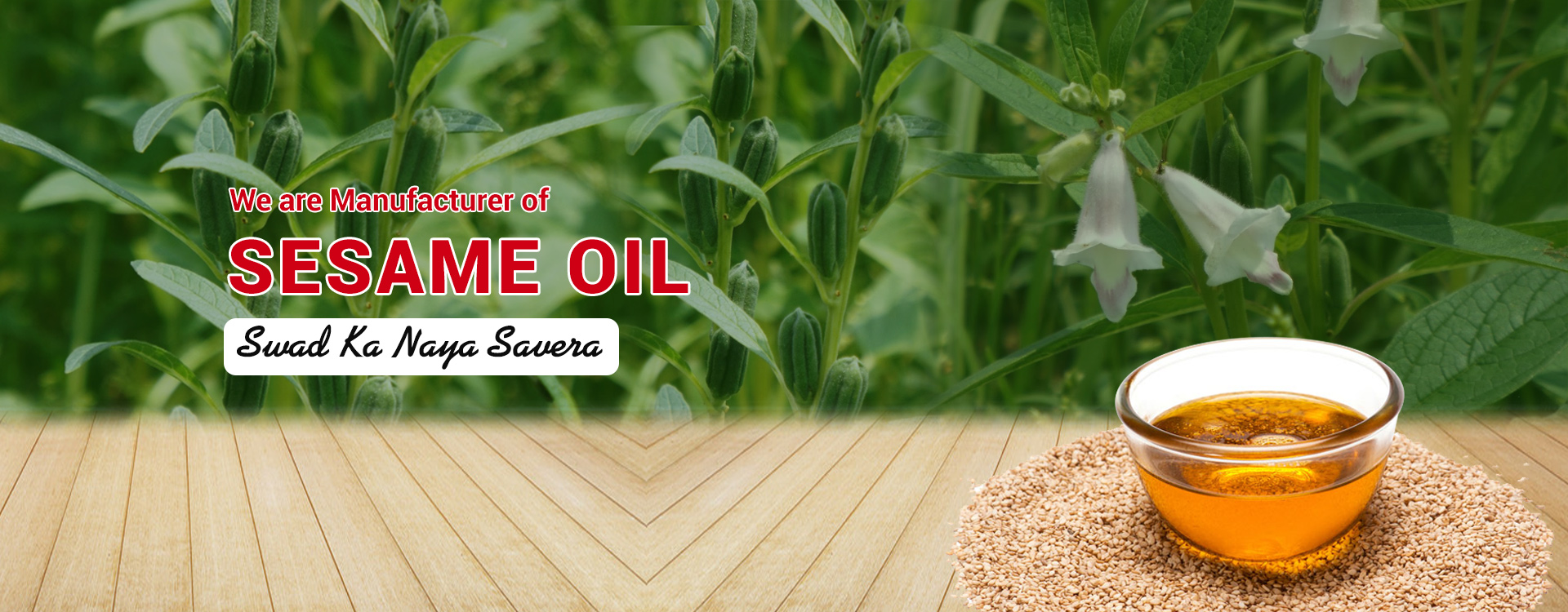 We are Manufacturer of Sesame Oil india